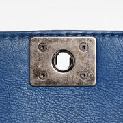 CHANEL Calfskin Small Boy Reverso Flap Dark Blue - LECLASSIQUE