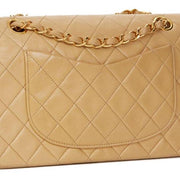 CHANEL Classic Small Double Flap Bag Beige - LECLASSIQUE