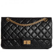 CHANEL Distressed Calfskin Quilted 2.55 Reissue Flap Black 277 - LECLASSIQUE