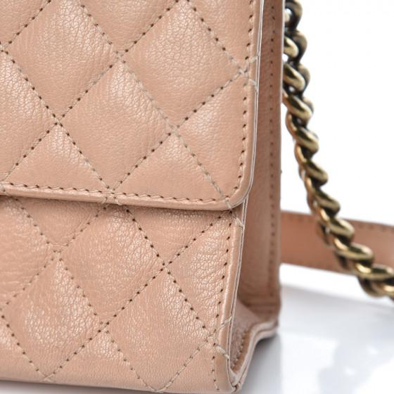 CHANEL Goatskin Quilted Rita Flap Beige - LECLASSIQUE