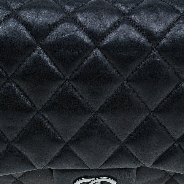 CHANEL Lambskin Leather 3 Accordion Maxi Flap Bag - LECLASSIQUE