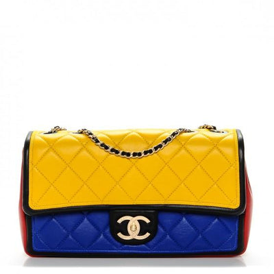 CHANEL Lambskin Tri-Color Graphic Flap Multicolor - LECLASSIQUE