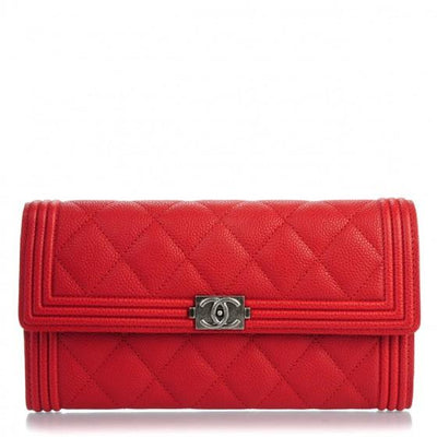 CHANEL Quilted Boy Wallet - LECLASSIQUE