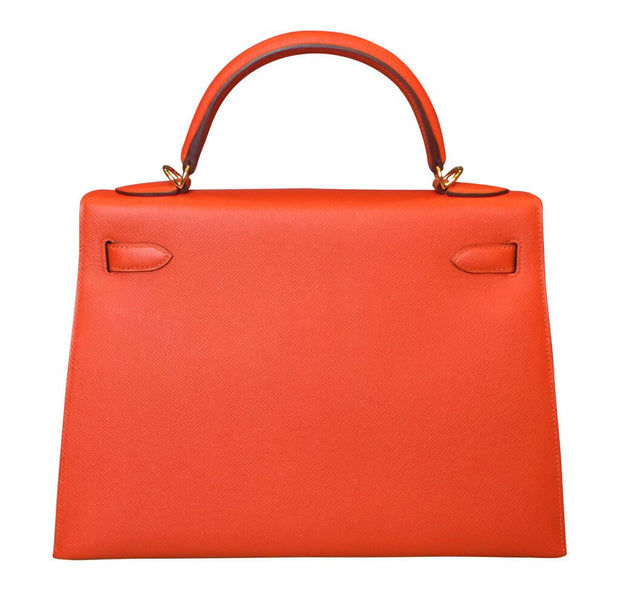 Hermès Kelly 32 Orange Handbag LECLASSIQUE