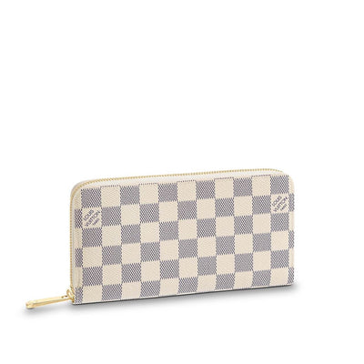 LOUIS VUITTON Monogram Azur Damier Wallet Zipper - LECLASSIQUE