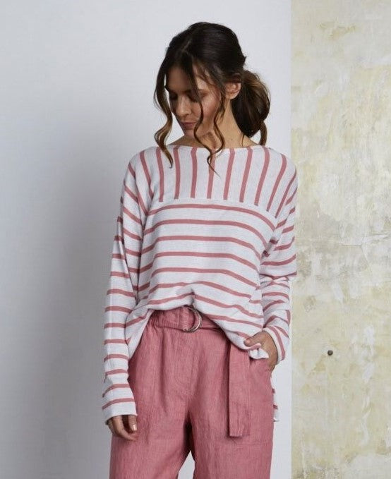 Jumper - Butt Shoulder Stripe Pullover