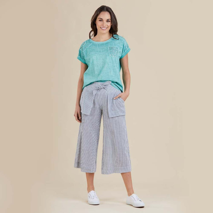 Pant - Striped Culotte by Threadz