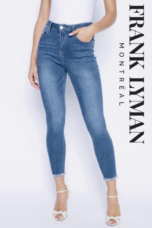 Pant - FRANK LYMAN Stretch Bow Diamonte Jean