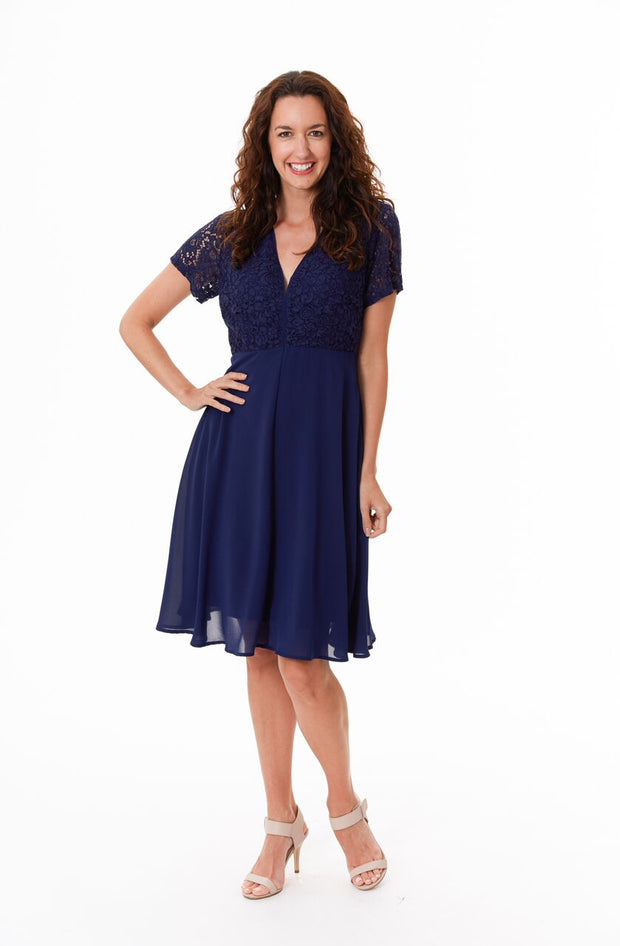 Dress - Ashley Navy Lace