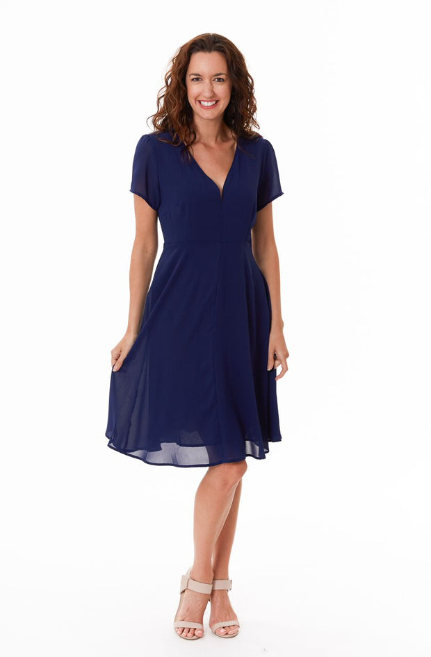 Dress - Ashley Navy Floaty