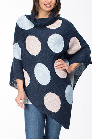 Poncho - Spot Knit by Threadz