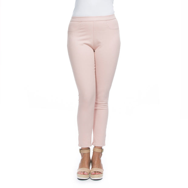 Jean - Dusky Pink Crop Stretch Pant