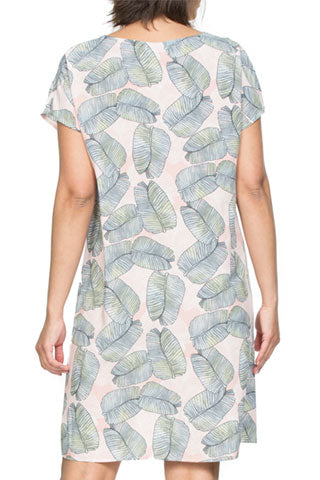 Dress - Leaf Print by Threadz
