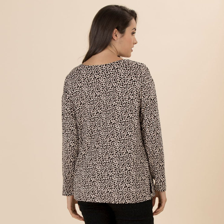 Top - Clarity Animal Print Tee