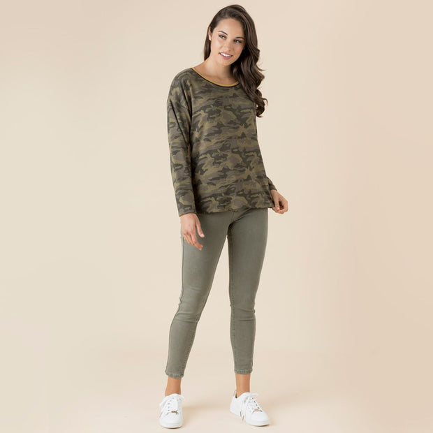 Top - Camouflage Print Tee