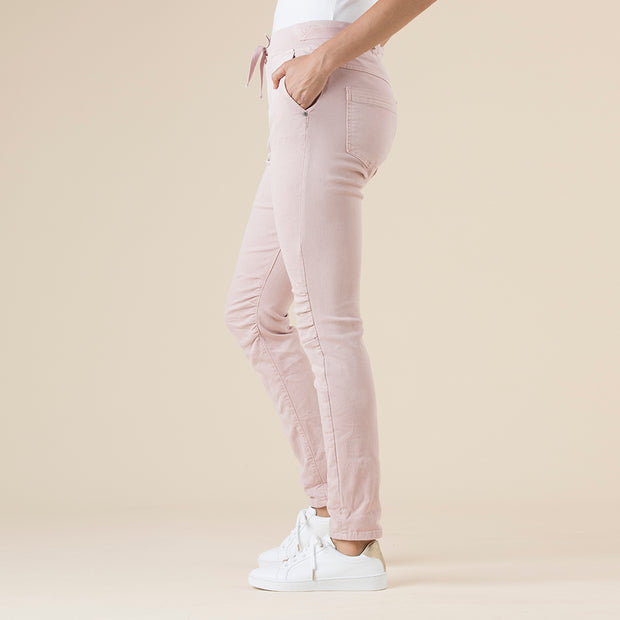 Pants - Tie Front Gathered Jogger Jean