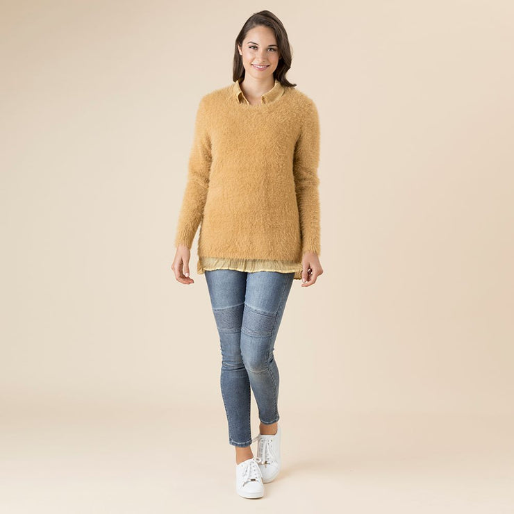 Jumper - Faux Fur Gold by Threadz
