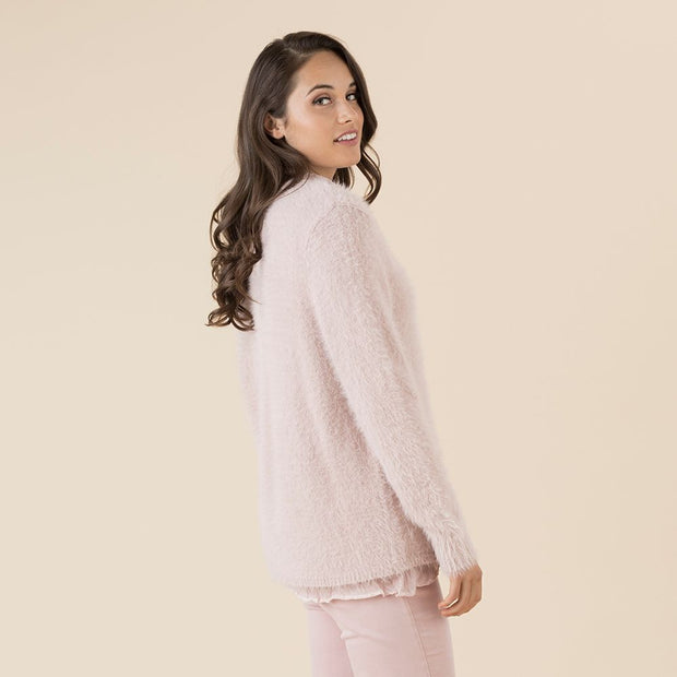 Jumper - Faux Fur Pink by Threadz