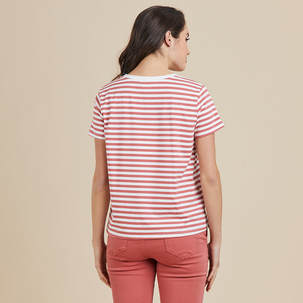 Top - Stripe Short SLV Tee
