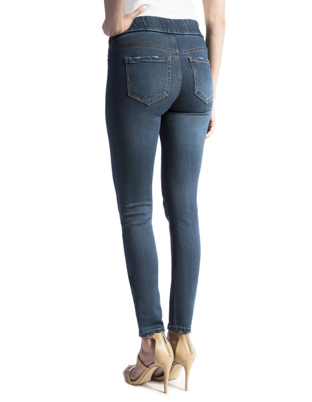 Jeans -Petrol Cupro Sienna Legging - Liverpool Jeans