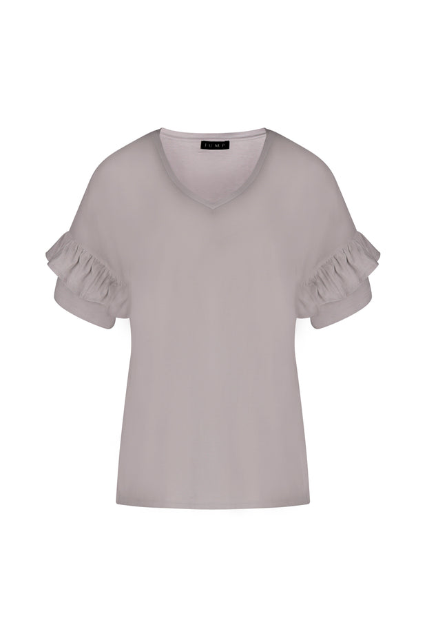 Top - Flamenco Tee in Pink Lotus and White by JUMP