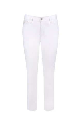 Pant - White Denim Side Split Capri by JUMP