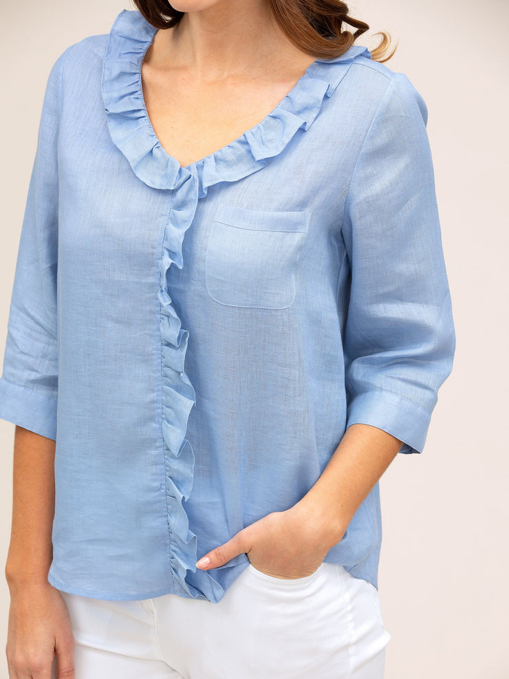 Top - Ruffle Linen by Yarra Trail