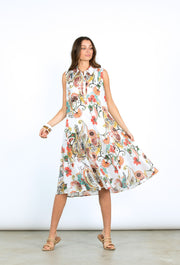 Dress - Flourish Print Cotton by Yarra Trail