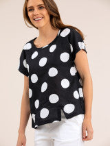 Top - Spot Print Linen by Yarra Trail