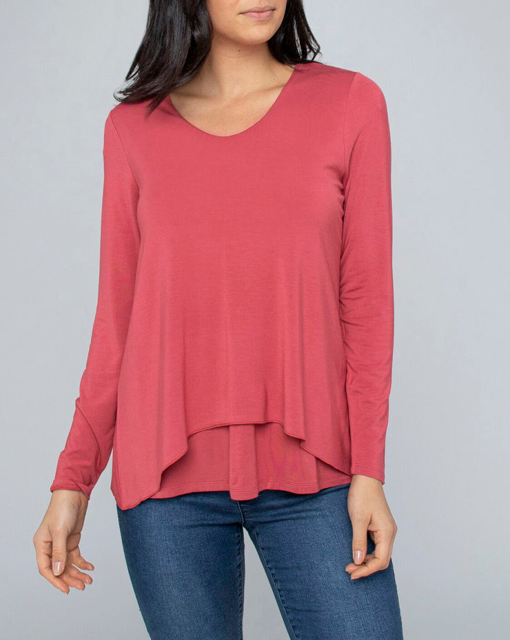 Top - L/Slv V Neck by JUMP