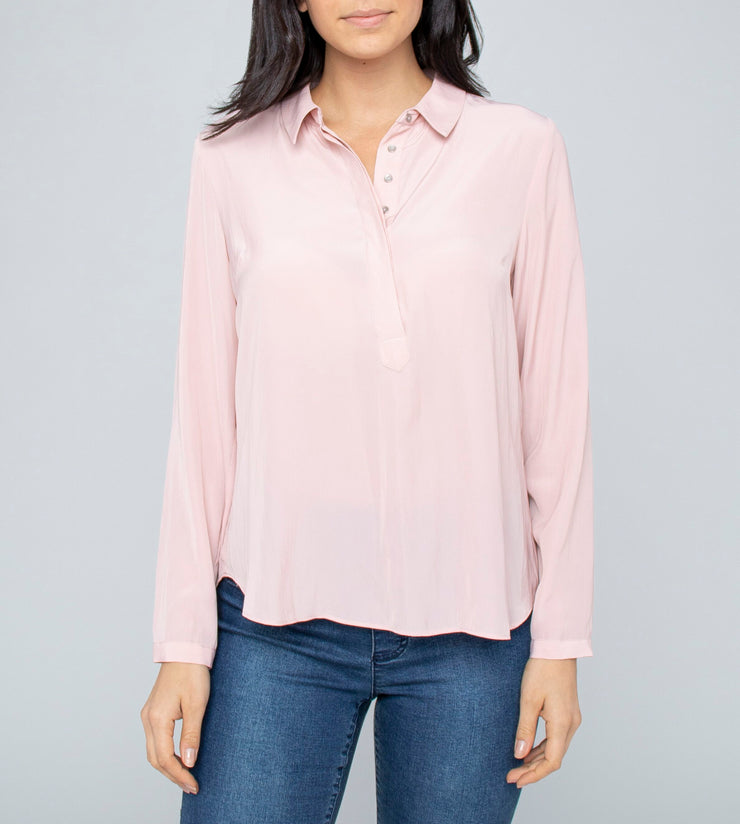 Top - V Neck Musk Blouse by JUMP