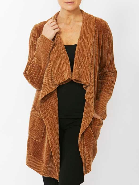 Cardigan - Longline Chenille by PINGPONG