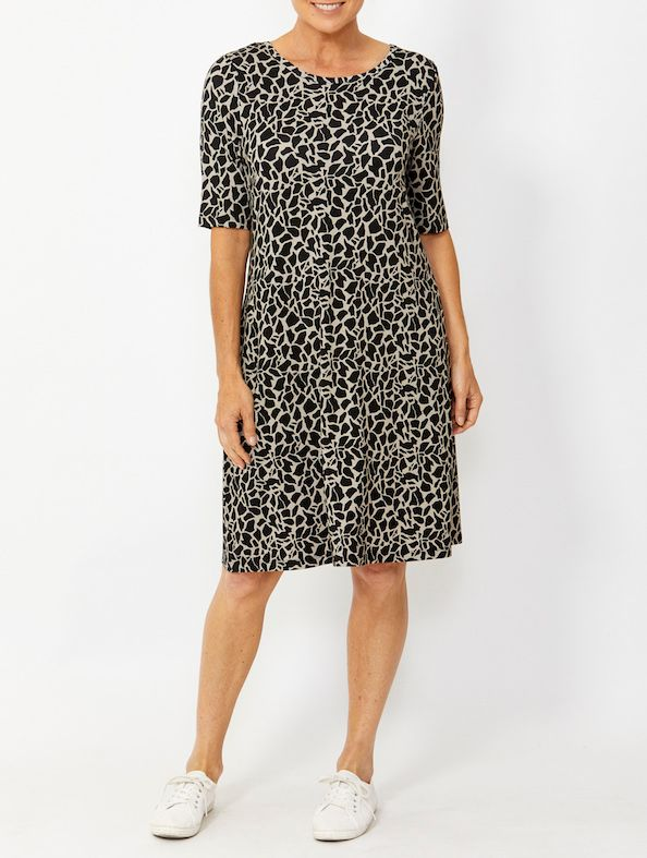 Dress - Giraffe Print by PingPong