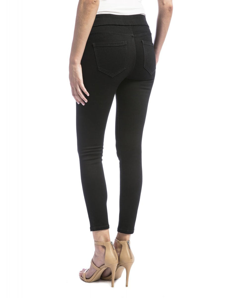 Jeans -Black Cupro Sienna Legging - Liverpool Jeans