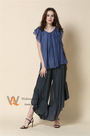 Top - Italian Flutter Sleeve Silk