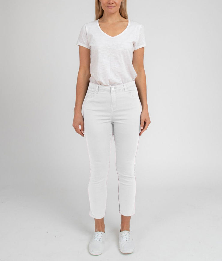 Pant - 7/8 Summer White Split Jean by JUMP