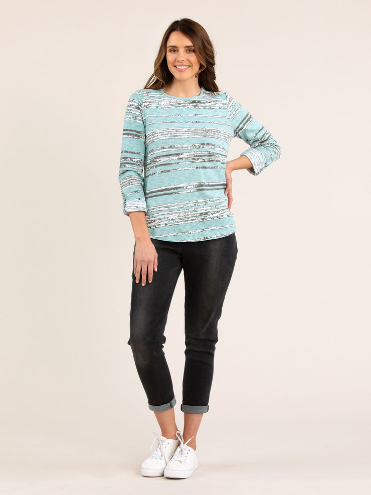 Top - Rough Stripe Tee by Yarra Trail