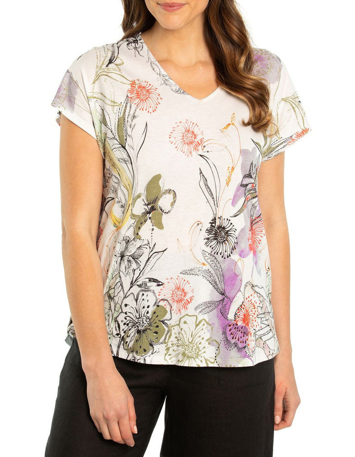 Top - Hothouse Print Tee by Yarra Trail
