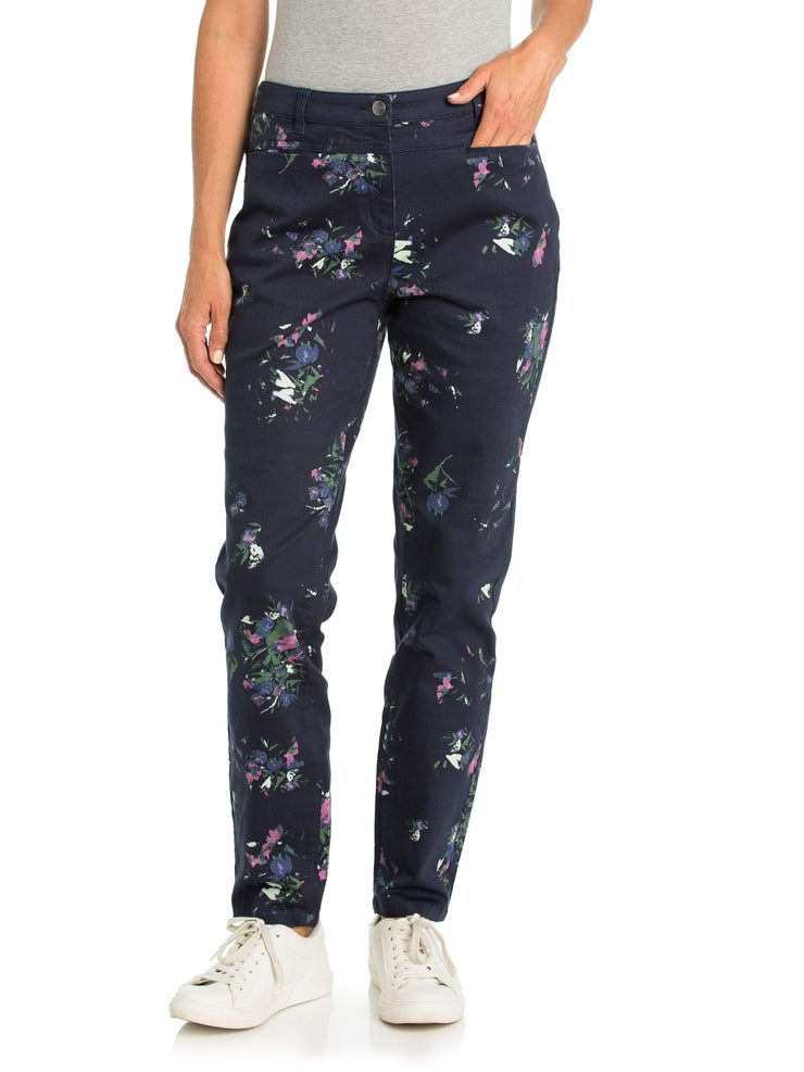 Jeans - Abstract Floral Print