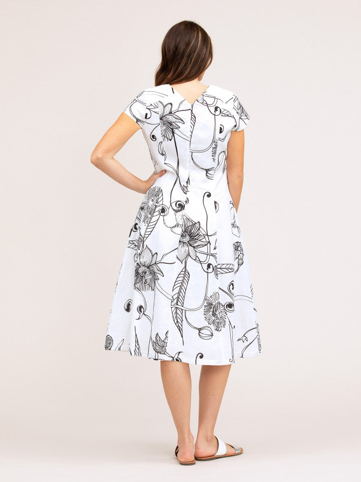 Dress - Botanical Print by Yarra Trail
