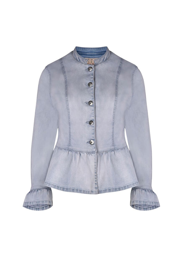 Jacket - Frill Hem Denim by JUMP