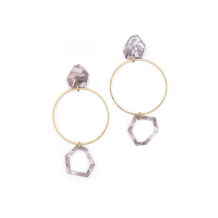 Earring - Pastel Resin Hoop