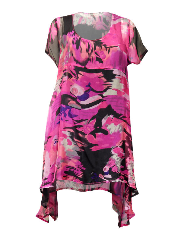 Dress - Elizabeth 100% Silk Cap SLV Tunic