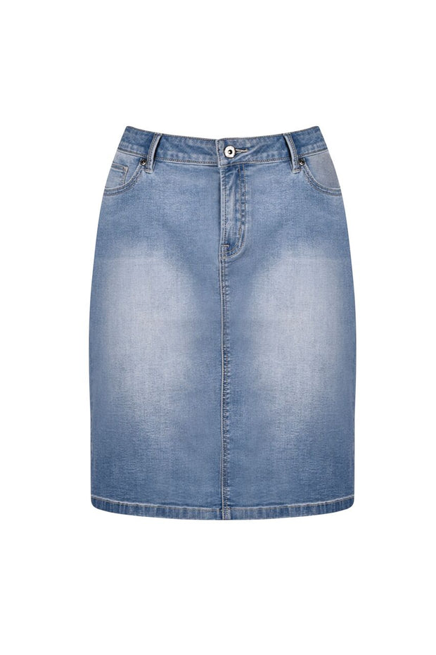 Skirt - Mid Blue Denim by JUMP