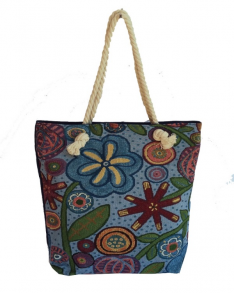 Bag - Canvas Flower Tote