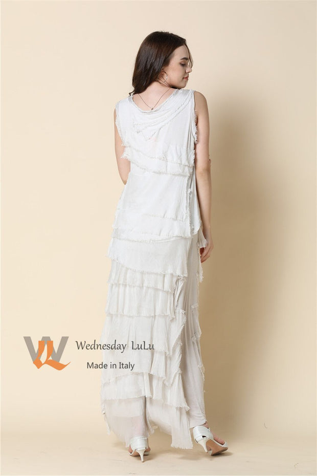 Dress - Italian Silk Tiered