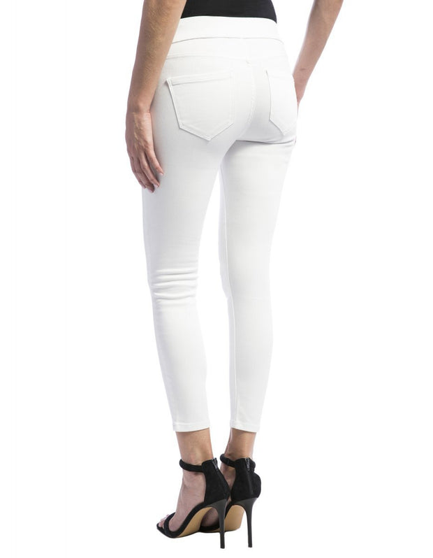 Jeans - Sienna Pull on Capri in Bright White by Liverpool Jeans