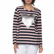 Top - Sequin Heart Tee by Threadz