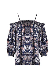 Top - Tapestry Floral Off the Shoulder by JUMP