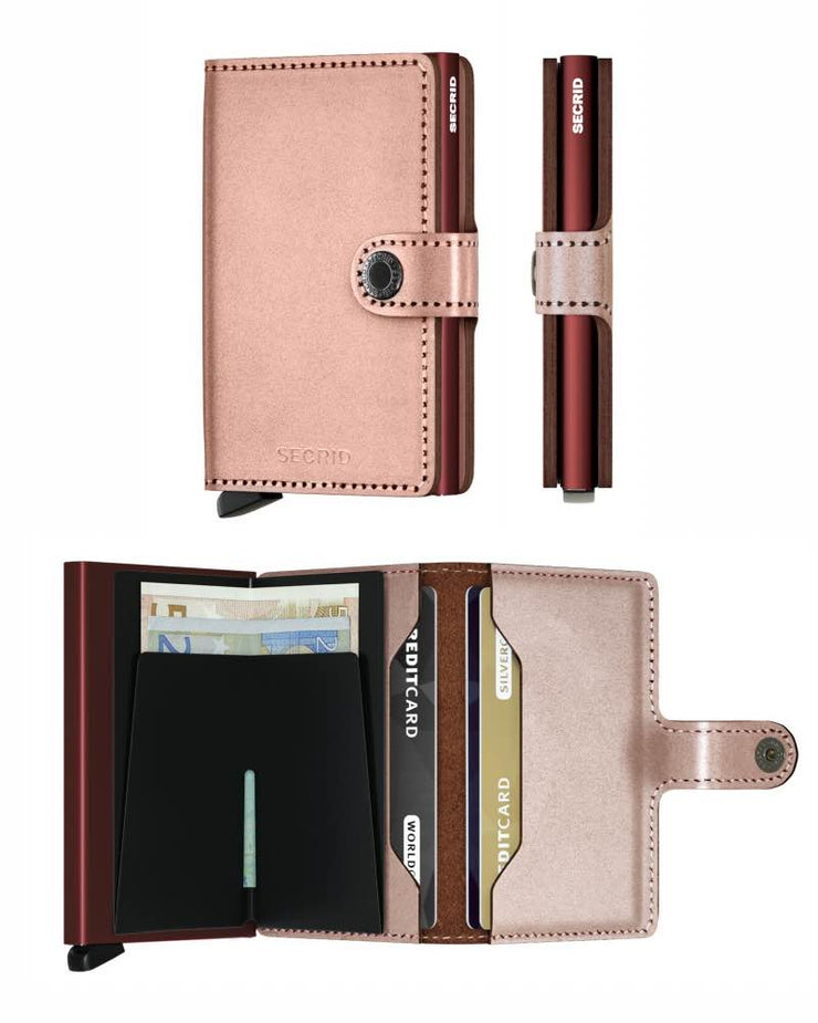 Wallet - Secrid Rose Metallic Miniwallet